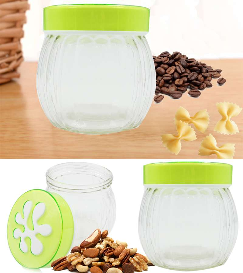 12*9.5cm kitchen supplies glass Pasta,spice and nuts jar