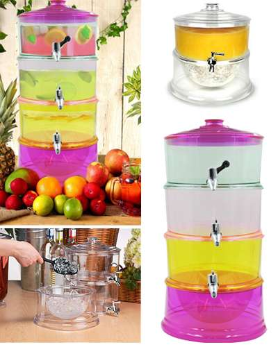 Colored  3-tier Beverage Dispenser Chamber