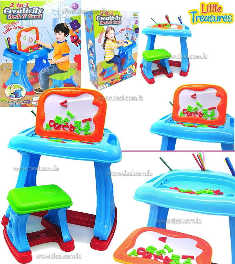 2 in 1 Creativity Desk and Easel set