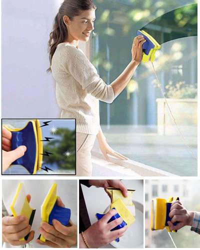 Original Magnetic Window Cleaner Double Side Glass Wiper Cleaner Surface Useful Brush New