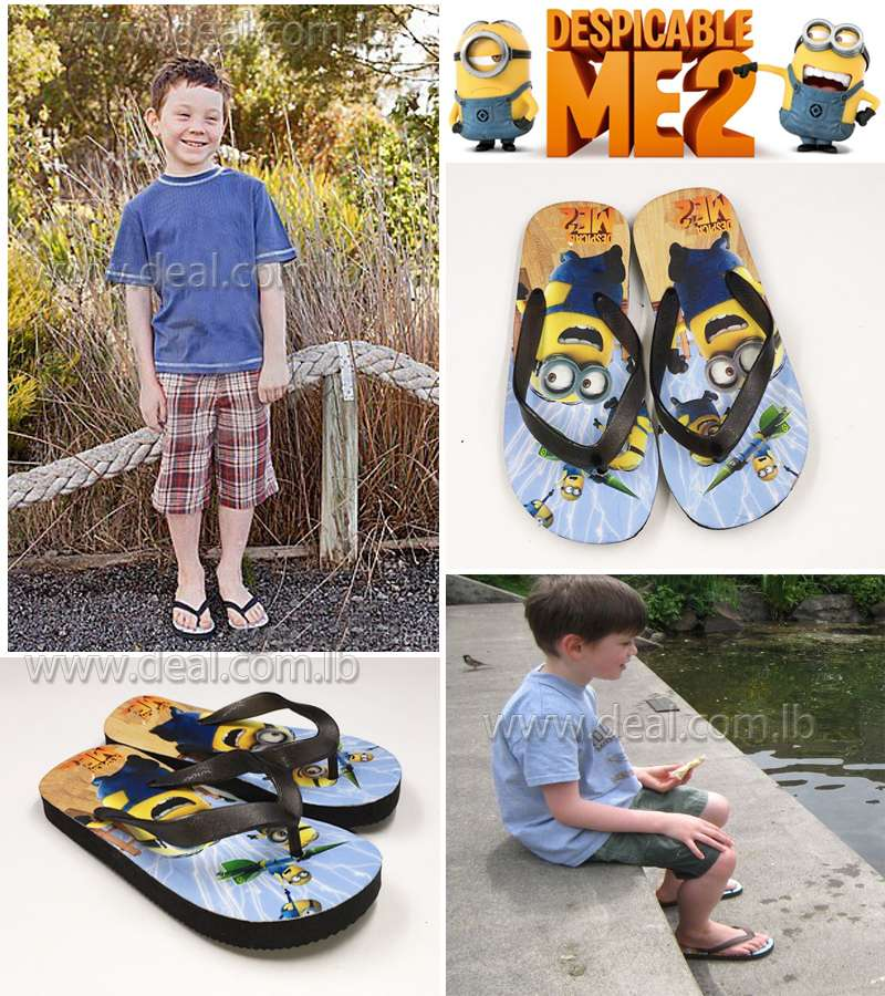 Boys And Girls Minions Slippers shoes Black color