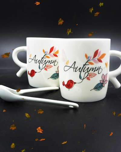SET OF 2 PCS Mug Autumn CUP