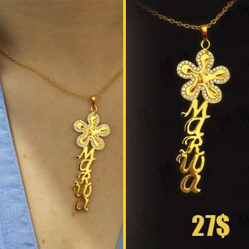 Flower Customized Necklace Names , MH creation & Design