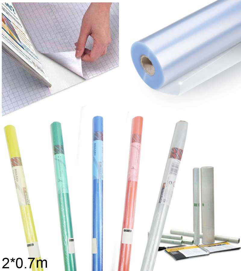 2 x 0.7m SMEAD Transparent PVC Roll covers pound