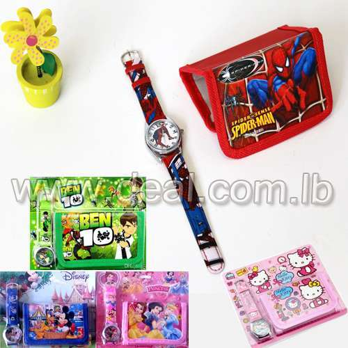 Different Designs Wallet and watch for children