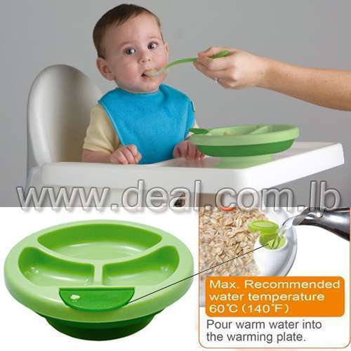 Keeping Warm Stay Put Divided Suction Warming Plate