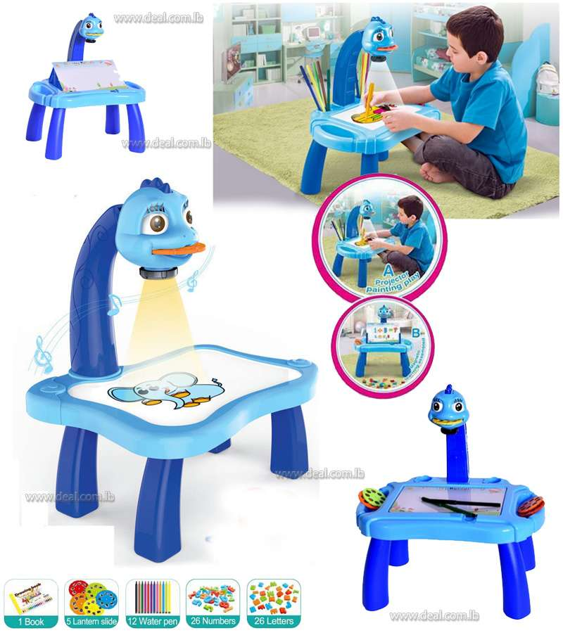 4 in 1 new projection drawing machine with light ,projector learning desk for children
