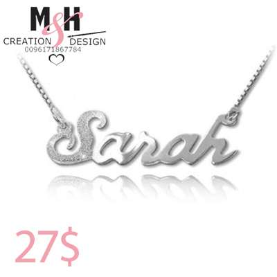 24k Gold Plated Customized Necklace with First Letter Crystal Stone