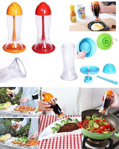 Oil spray bottle vinegar bottle of barbecue sauce bottle seasoning bot...
