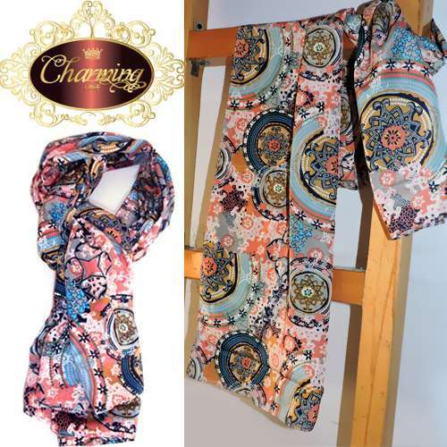 Charming Line Style Design New Fashion Women Girls Scarf - Light Pink -