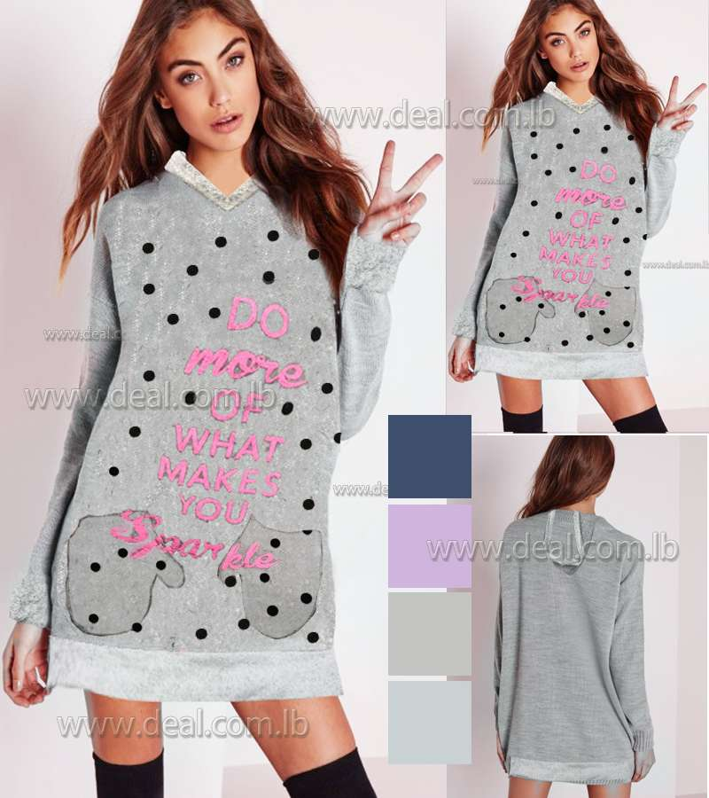 ted wool sweater With dots