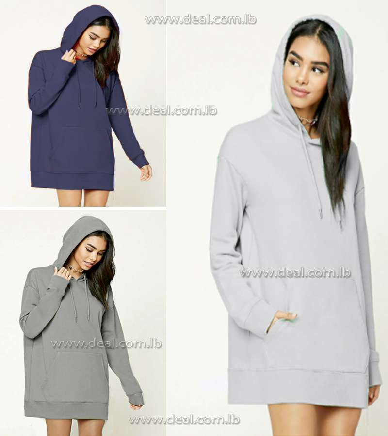 Grey hooded pocket sweater