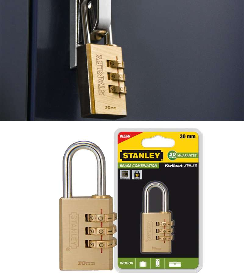 COMBINATION PADLOCK - SOLID BRASS/30 mm/S742-051