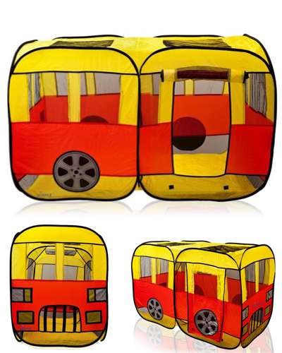 Children City Bus Pop Up Tent