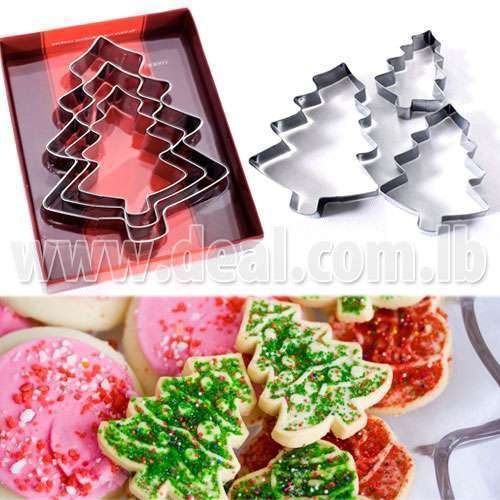 3 pcs Stainless steel tree Cake tools