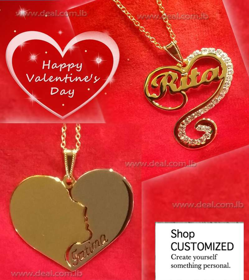 Heart Infinity Name Gold  Necklace