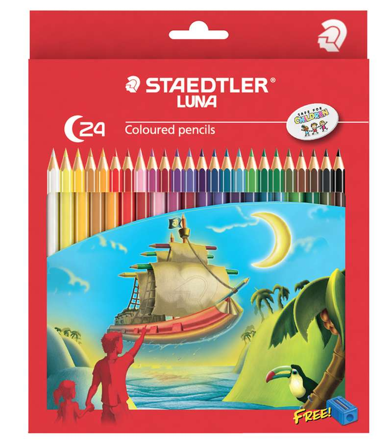 Staedtler Luna Colour Pencils Full 24 Pack WITH SH
