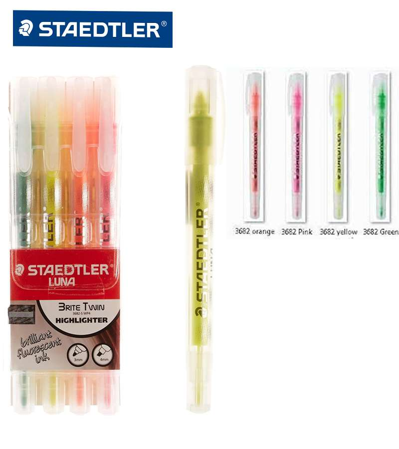 Staedtler Luna Brite Twin Highlighter, Pack of 4