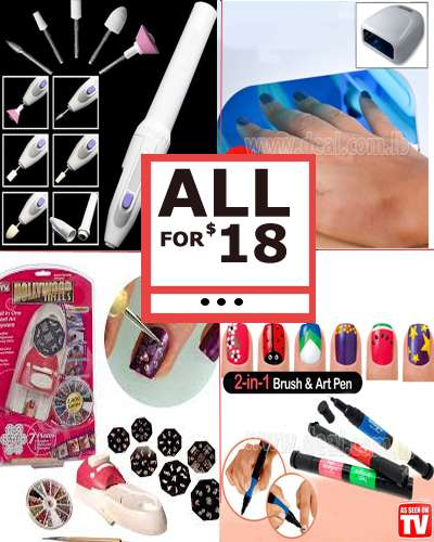 Nail Art & Care Tools Combo