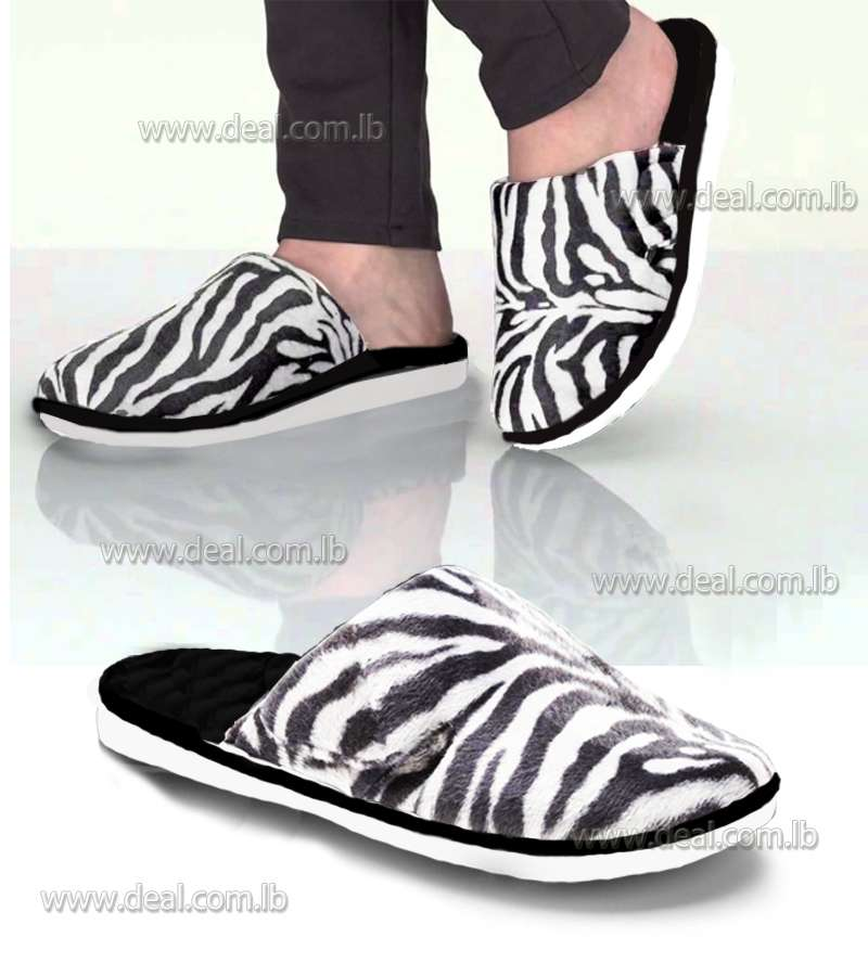Women Slippers Zebra