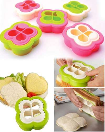Plastic bread toast cutter sandwich cutter picnic lunch mold maker in lucky clover design
