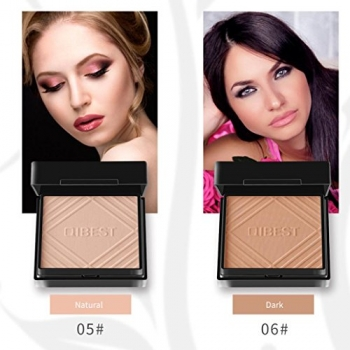 QIBEST+Foundation+Makeup+Face+Powder+Panel+Contour+Color+Cosmetics+Loose+Powder+for+Women+Party+Professional+Daily+Makeup