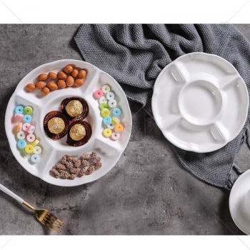 White+Porcelain+Dinner+Set+Of+9+Pieces