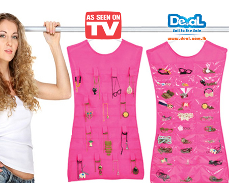 iGrabme 92pcent Hanging Jewellery Organizer As Seen On Tv Array