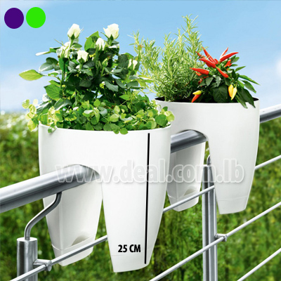 60 OFF Pot Planter Outdoor Balcony Fence For Plants Or