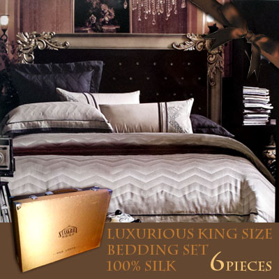 75pcent off array luxury palace royal silk array off white bedding king queen size. Black Bedroom Furniture Sets. Home Design Ideas
