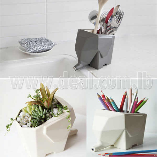 Charmant IGrab.me   73pcent Off Lot Multi Function Elephant Kitchen Drain Device  Brush Pot Flower Pot Cutlery Draine (pay $4 Instead Of $15)   Everyday Deals
