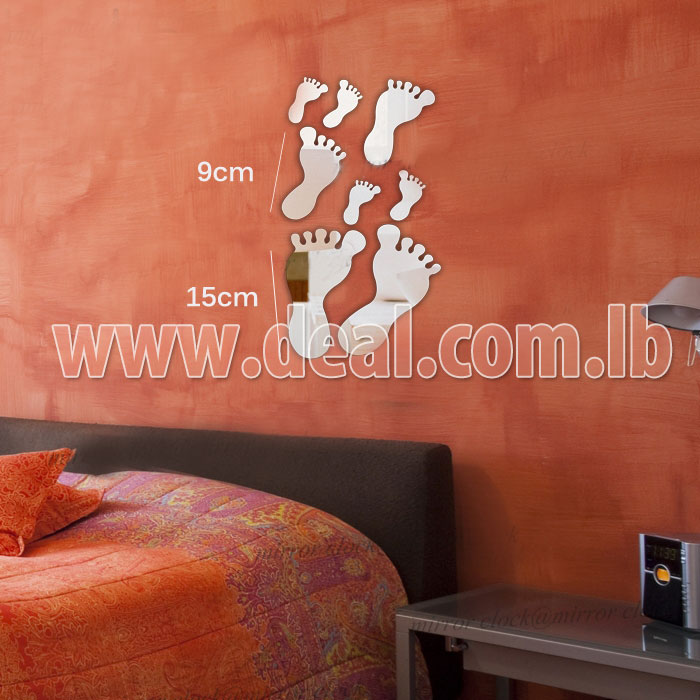 80pcent Off 8 Pcs Foot 3d Wall Stickers Home Decor Mirror Wall Sticker Pay 5