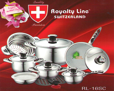 royalty line set  - 90pcent Off 16 Pcs Swiss Cookware Set Rl 16sc Royalty ...